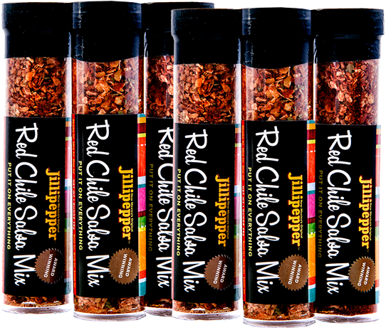 Red Chile Salsa Mix small set (6)